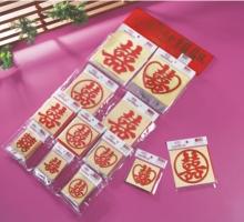 燙金紅喜貼紙10型