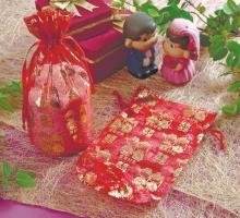 紅雙囍大紗袋