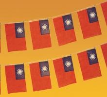 2號塑膠國旗串旗