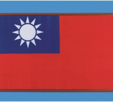 國旗裱褙+木框