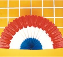 3色塑膠扇形旗