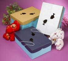 時尚造型天地手提盒-小