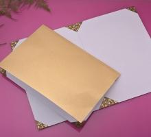 8開輕便型証書夾-亮金色(加厚)