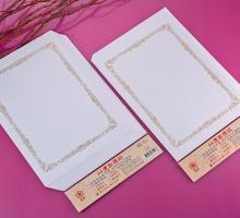 A4雙用燙金獎狀紙9號-全花框-35入