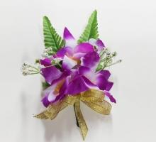 三朵石斛蘭(紫)