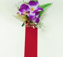 三朵石斛蘭+儀條大紅(空白)