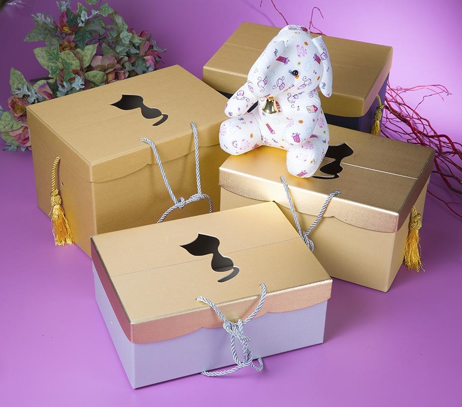 時尚造型手提盒+穗結-大